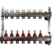 STOUT SMS-0927-000007 STOUT Коллектор из нержавеющей стали с расходомерами, с клапаном вып. воздуха и сливом 7 вых.