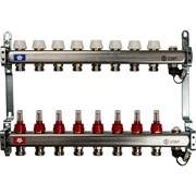 STOUT SMS-0927-000008 STOUT Коллектор из нержавеющей стали с расходомерами, с клапаном вып. воздуха и сливом 8 вых.