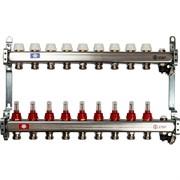 STOUT SMS-0927-000009 STOUT Коллектор из нержавеющей стали с расходомерами, с клапаном вып. воздуха и сливом 9 вых.