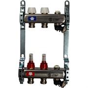 STOUT SMS-0927-000002 STOUT Коллектор из нержавеющей стали с расходомерами, с клапаном вып. воздуха и сливом 2 вых.