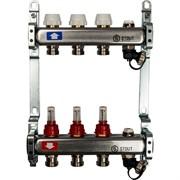 STOUT SMS-0927-000003 STOUT Коллектор из нержавеющей стали с расходомерами, с клапаном вып. воздуха и сливом 3 вых.
