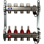 STOUT SMS-0927-000004 STOUT Коллектор из нержавеющей стали с расходомерами, с клапаном вып. воздуха и сливом 4 вых.