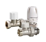 12872700 Luxor термостатический комплект для подключения радиатора КТ201 3/4 прямой