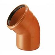 Отвод для наружной канализации 45° D 160