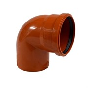 Отвод для наружной канализации 87° D 110