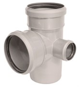SINIKON Крестовина для щумопоглащающей канализации двухплоскостная, правая 87° D 110xD 110xD 50