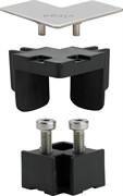 Угловой соединительный элемент для дизайн вставка душевого лотка VIEGA Advantix VARIO цвет-хром глянцевый ( 711757 )