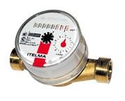 Счетчик горячей воды ITELMA Ду=15мм, L=80мм, Qном=1,5м3/ч, ГВС