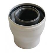 Коаксиальный переходник с диаметра 80/125 на диаметр 60/100 BAXI ( KHG714119410 ) алюминий ( для традиционных котлов)