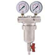 Фильтр сетчатый ITAP 189 1 муфтовый 300 мкр. с 2 -мя манометроми и спускником