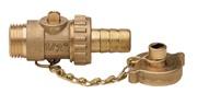 Кран шаровой ITAP 139 1/2 дренажный со штуцером
