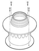 Адаптер (присоединительный элемент к котлу) с переходом DN 60/100 на DN 80 ( для схемы дымоудаления B22)