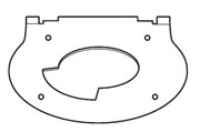 Дроссельная диафрагма для схемы дымоудаления B22 (12-28кВт)