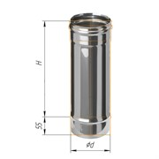 Труба дымохода одностенная 1,0м (430/0,5 мм) Ф130