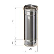 Труба дымохода одностенная 0,5м (430/0,5 мм) Ф130