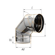 Колено угол 90' (430/0,5 мм) Ф150