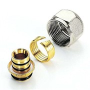 """Соединитель обжим-В никелированный евроконус для металлопластиковой трубы TIEMME 20(2,0)х3/4""""EK"""