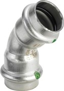 Угол пресс 15 45' нержавеющая сталь Sanpress Inox SC-Contur Viega ( 435776 )