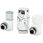 14702703CBLUX Luxor KT 259/A Термостатический комплект 1/2 EK угловой (RS259/A+DS79/A+TA1200), белый-хром