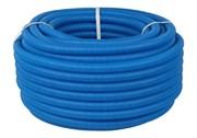 Труба гофрированная ПНД, синяя, диаметр 20 мм для труб диаметром 14-18 мм