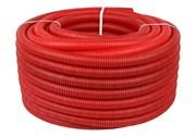 Труба гофрированная ПНД, цвет красный, наружным диаметром 20 мм для труб диаметром 14-18 мм SPG-0002-102016
