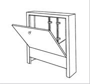 Шкаф коллекторный, приставной, тип AP 130/805, белый
