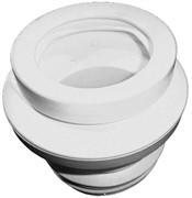 манжет для унитаза, с поворотным эксцентриком 0-20мм, предназначен для пластмассовых и чугунных труб, DN 110 (100)