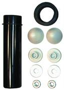 крепежный комплект для консольного унитаза с трубой для слива и манжетой