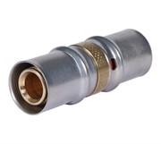 Муфта соединительная равнопроходная 16х16 для металлопластиковых труб прессовой