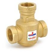 """Термостатический смесительный клапан UNI-FITT В 1"""" 3-ходовой термостатический 60С Kvs 9 для напольных котлов, смешение боковое ( 358g6094 )"""