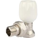 """Клапан ручной терморегулирующий с неподъемным шпинделем, угловой 1/2"""""""