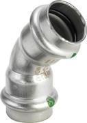 Угол пресс 18 45' нержавеющая сталь Sanpress Inox SC-Contur Viega ( 435783 )