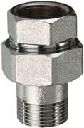 Прямой хромированный разъемный фитинг FAR FC 5150 12