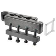 Коллектор Regumat Ду25 на 3(5) контура из стали (компактное исполнение)