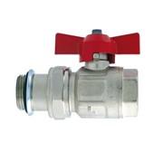 Кран шаровой ITAP 098S IDEAL 1 с накидной гайкой полнопроходной, для коллекторов, соединение оборудовано уплотнительным кольцом