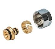 67841612C Luxor TP 98/C 16x2 мм (3/4 EK) резьбозажимное соединение для труб из полипропилена и сшитого полиэтилена, хром