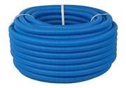 Труба гофрированная ПНД, синяя, диаметр 25 мм для труб диаметром 16-22 мм