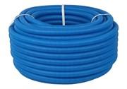 Труба гофрированная ПНД, синяя, диаметр 32 мм для труб диаметром 25 мм