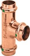 Тройник пресс Viega 22x15x22 медь Profipress SC-Contur ( 292027 )