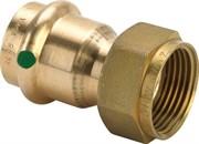 Муфта Viega пресс-В 22x1'1/2 с плоским уплотнением бронза Sanpress SC-Contur