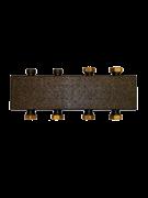 Настенный коллектор на 3 контура, с комплектом кронштейнов