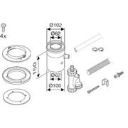 Элемент для отвода конденсата DN 60/100 (вертикальный)
