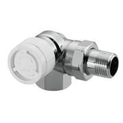"""Термостатический вентиль Oventrop CV 9 Ду 15 1/2"""", угловой, трехосевой, левое подключение, хромированный"""
