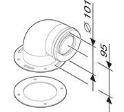 Адаптер (присоединительный элемент к котлу) угловой 90 град. DN60/100