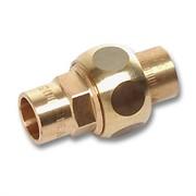 Разъёмное соединение пайка 18, плоское уплотнение , бронза, 4330