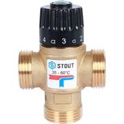 """Термостатический смесительный клапан для систем отопления и ГВС 1"""" НР 35-60°С KV 1,6"""