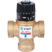 """Термостатический смесительный клапан для систем отопления и ГВС 3/4"""" ВР 20-43°С KV 1,6"""