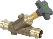 Вентиль ДУ 15 Easytop (полнопроходной) пресс 15 c SC-Contur, бронза, м.2237,5