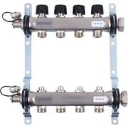 """Коллектор отопления Uponor Vario S с балансировочными клапанами 1"""" 4x3/4"""" EK"""