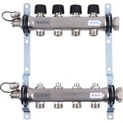 """Коллектор отопления Uponor Vario S с балансировочными клапанами 1"""" 16x3/4"""" EK"""
